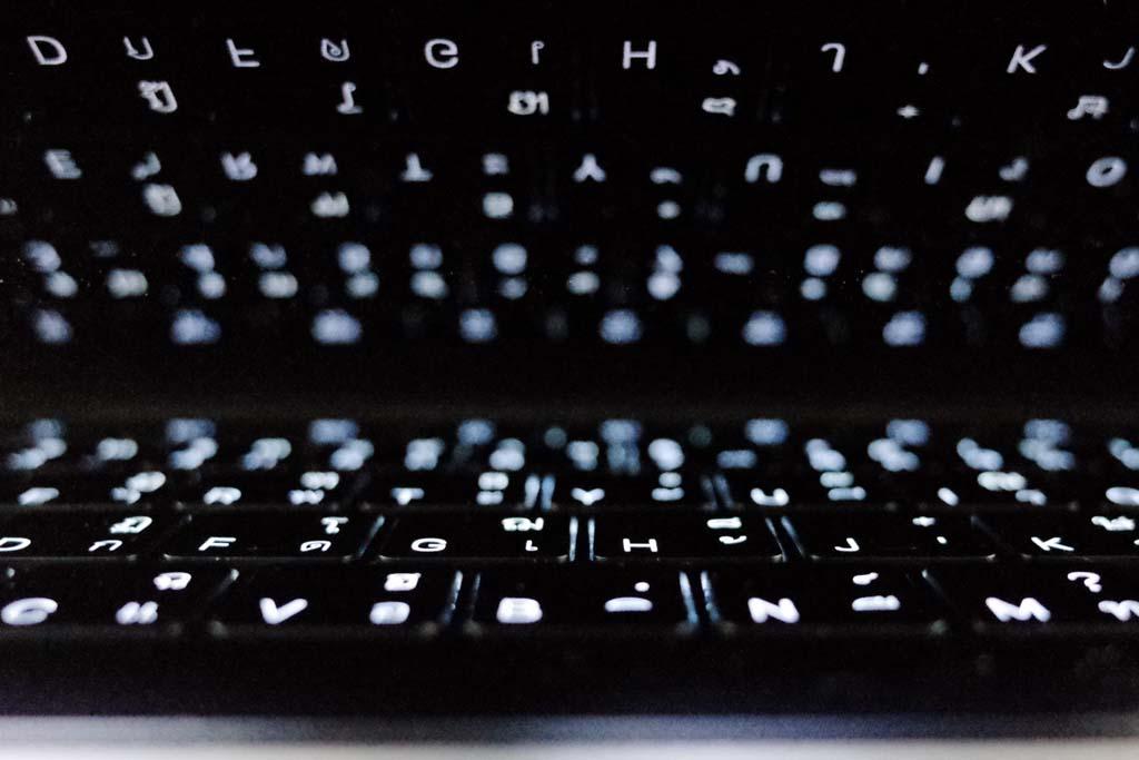 คีย์บอร์ดพร้อมไฟ backlit