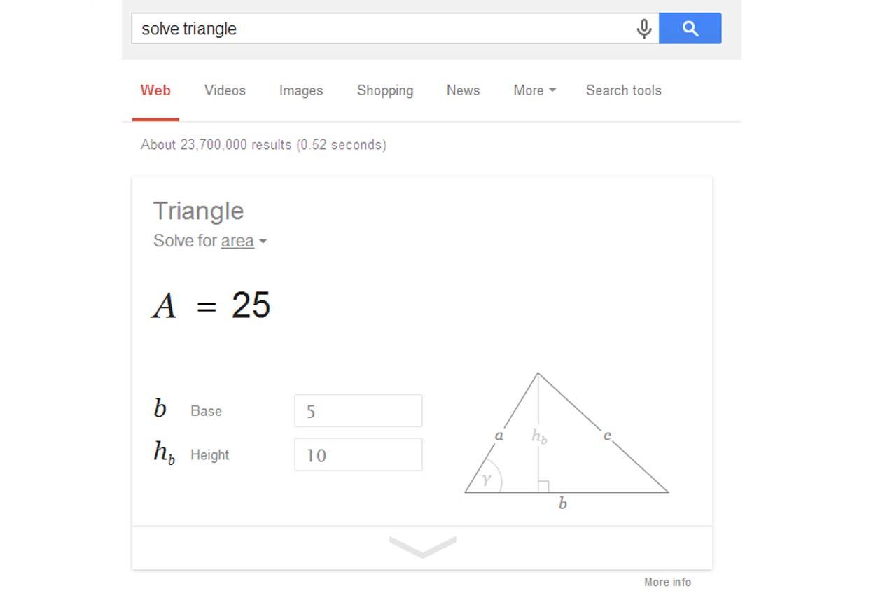 กิจกรรมการเรียนบน Google ผู้เรียนไม่จำเป็นต้องท่องสูตร แต่สามารถหาค่าได้ทันที